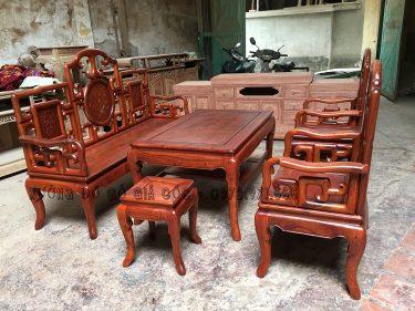Bộ bàn ghế Móc Mỏ gỗ Hương Đỏ Lào