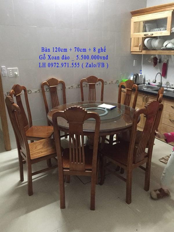 Bộ bàn ghế ăn 6 ghế bàn tròn