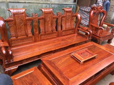 Bộ ghế Tần Thủy Hoàng gỗ Hương Vân