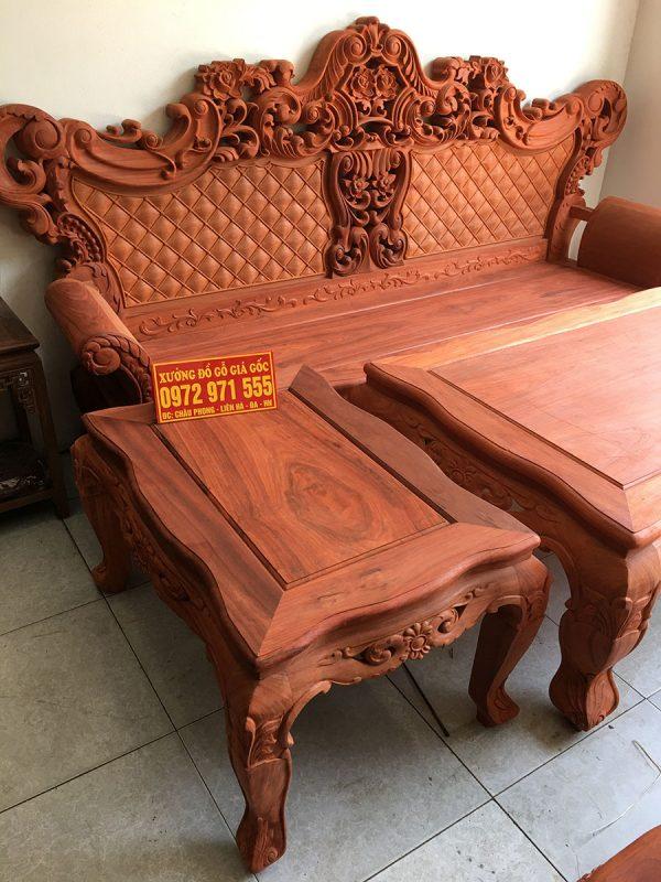 Bộ bàn ghế Hoàng Gia Vip gỗ Hương Đỏ