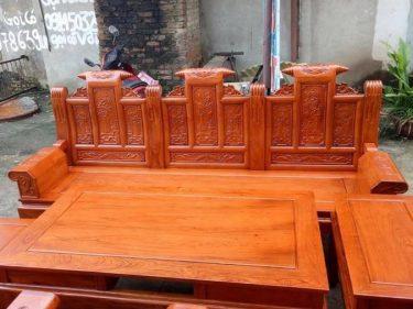 Bộ bàn ghế Âu Á hộp gỗ Lim 6 món