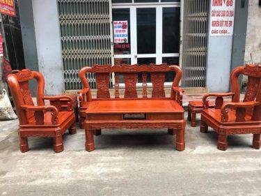 Bộ Minh Quốc Triện gỗ Hương vân 6 món