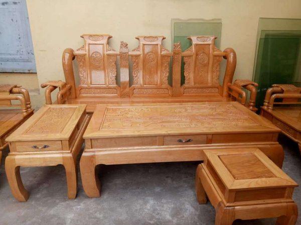 Bộ bàn ghế Tần Thủy Hoàng tay 12 gỗ sồi Nga
