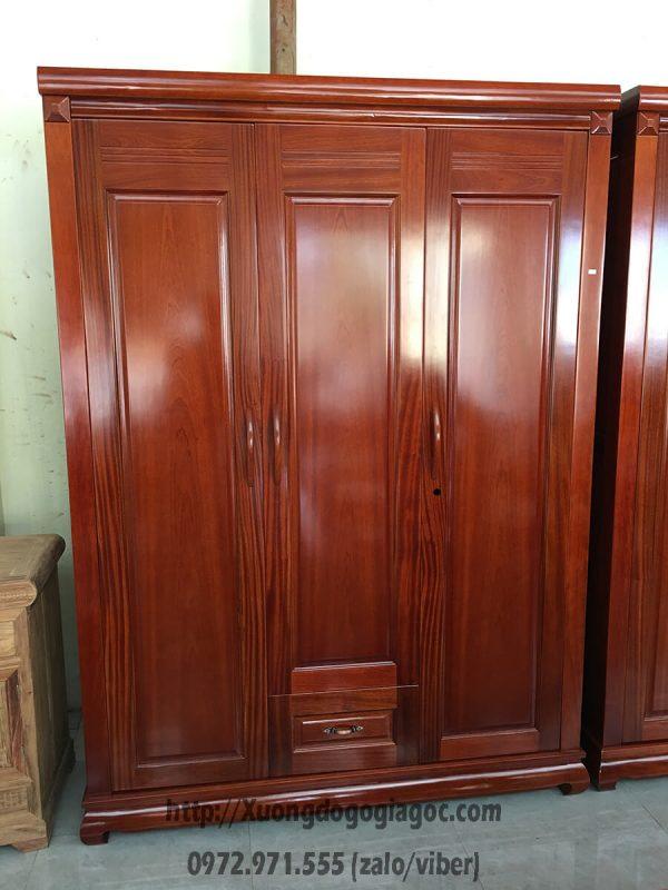 Tủ quần áo 3 cánh gỗ xoan đào