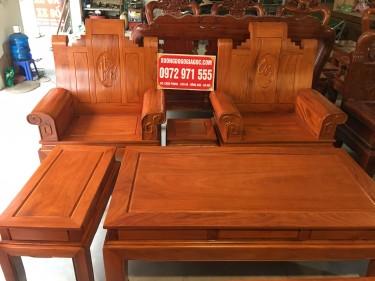 Bộ bàn ghế Âu Á Phúc Lộc Thọ gỗ Gõ giá rẻ