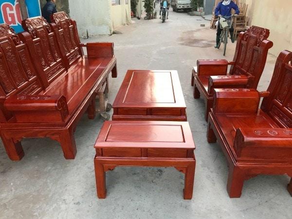 Bộ bàn ghế Âu Á Chương Voi tay hộp gỗ lim