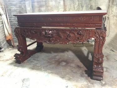 Sập thờ gỗ gụ chân 20 (hàng đặt của bác Quang - Hải Dương)