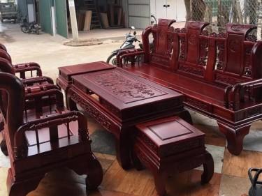 Bộ Tần Thủy Hoàng gỗ hương đỏ (anh Phong, Bình Dương)