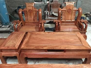 Bộ Tần Thủy Hoàng gỗ hương đá (bác Long, Ninh Bình)