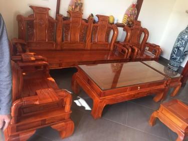 Bộ Tần Thủy Hoàng gỗ gõ đỏ (anh Trường, Quảng Ninh)