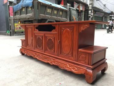 Kệ tivi phẳng gỗ hương vân hàng đặt theo yêu cầu của khách