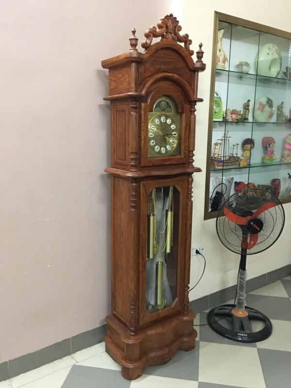 Đồng hồ cây mẫu Tứ trụ gỗ hương vân