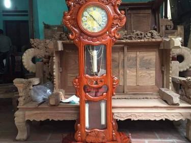 Đồng hồ cây Đại Bàng gỗ hương vân