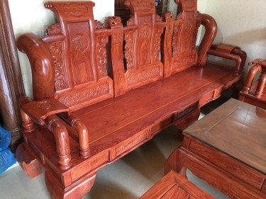 Bộ bàn ghế tần thủy hoàng tay cột 14