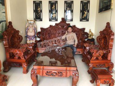 bàn ghế rồng đỉnh gỗ hương