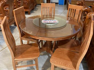 bàn ăn hinh tròn 6 ghế