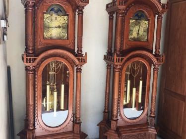 Đồng hồ tứ trụ gỗ hương