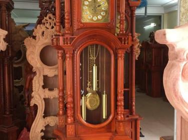 Đồng hồ tứ trụ cỡ to cao 2m5 gỗ hương đá