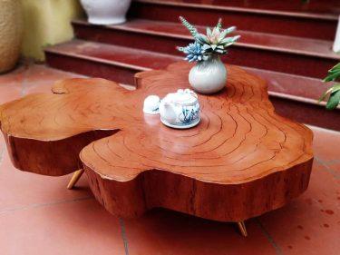 Bàn trà gỗ trâm da báo, hình dáng bắt mắt, vân gỗ đẹp tuyệt