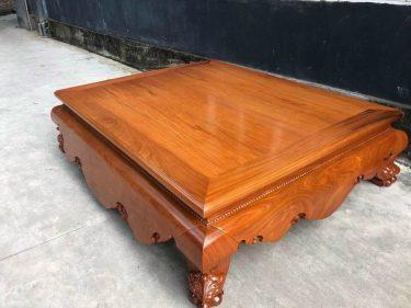 Sập gỗ hương đá trơn 1m6x2m (Cô Hương, Hải Phòng)