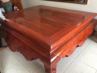 Sập gỗ hương đá vân vip hàng tuyển 1m8x2m2 (Chị Trang, Hà Nội)