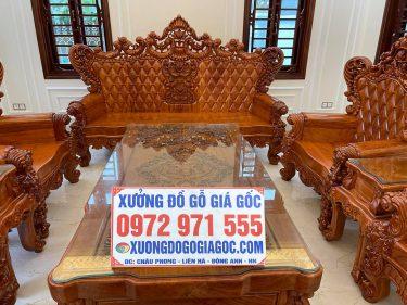 bàn ghế hoàng gia V10 gỗ hương đá - Anh ngọc hải phòng