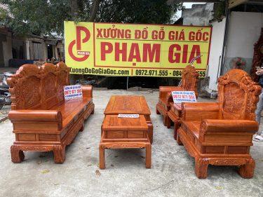 Bộ bàn ghế Khổng Tử gỗ hương đá hàng đặt của Anh Đức