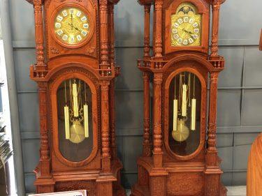 2 mẫu Đồng hồ tứ trụ gỗ hương
