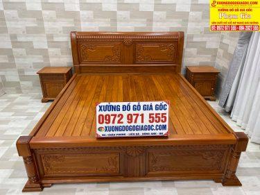 Giường ngủ 2m*2m2 gỗ tự nhiên 100%