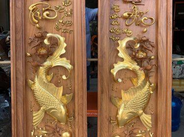 Tranh Song Ngư Dát Vàng